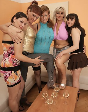 Nude hot mom party