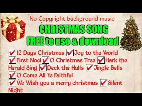 Christmas song background music download