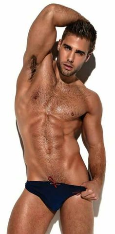Almost naked hot guy